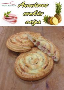 Ananászos sonkás csiga